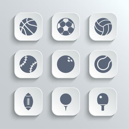 sport balls: Sport balls icon set