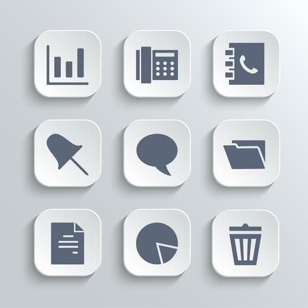 phonebook: Web icons set Illustration