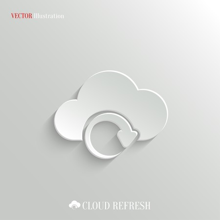 Cloud synchronization icon - vector web illustration, easy paste to any background Ilustracja