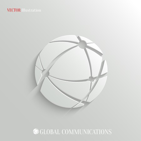Global communications icon - vector web illustration, easy paste to any background Иллюстрация