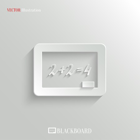 Blackboard icon - vector education background with shadow Vector