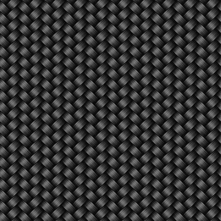 vezels: Carbon fiber textuur naadloze patroon, vector achtergrond Stock Illustratie