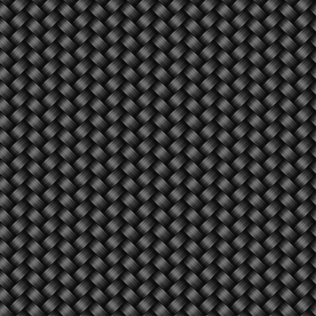 Carbon fiber texture seamless pattern, vector background Illustration