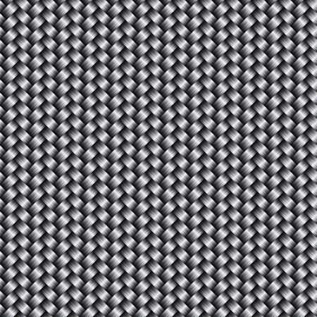 ベクトル炭素繊維テクスチャ背景、シームレスなパターン  イラスト・ベクター素材