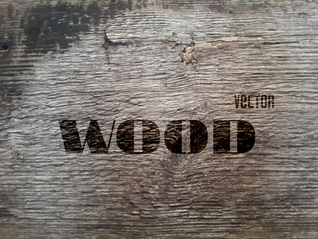 vintage texture: Vector Old Wood Realistic Texture, Dark Wooden Background for Your Design