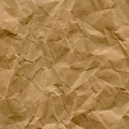 crumpled sheet: Vector High-Resolution Blank Craft Recycled Crumpled Paper Texture