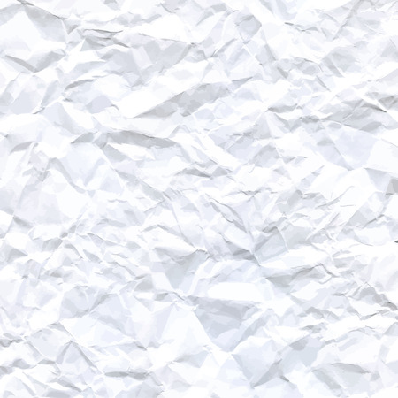 wrinkled paper: Vector High-Resolution Blank White Crumpled Paper Textured Background