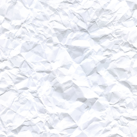 white textured paper: Vector High-Resolution Blank White Crumpled Paper Textured Background