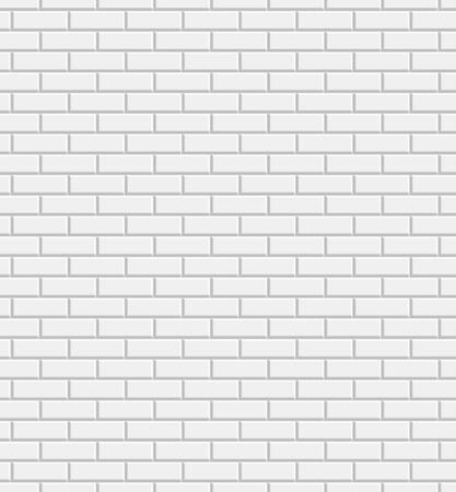 Vector witte bakstenen muur textuur naadloze patroon, abstracte achtergrond Stock Illustratie