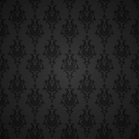 ベクトルのダマスク織のシームレス花柄背景です。壁紙の装飾  イラスト・ベクター素材