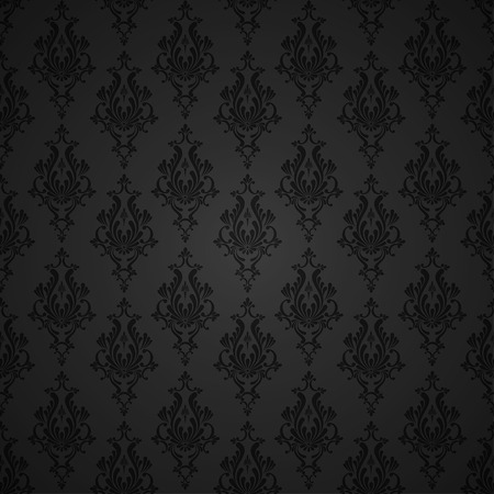 Vector Floral Damask Seamless Pattern Background. Decoration For Wallpaper Çizim