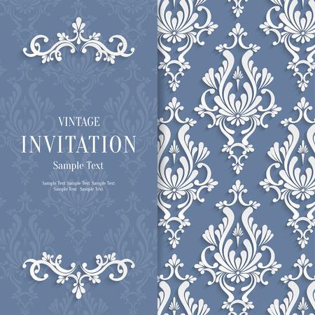 Vecteur floral gris 3d Noël et Invitation Fond Template Banque d'images - 38961476
