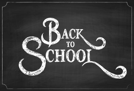 Back to School Chalkboard Background, Vector Illustration Çizim