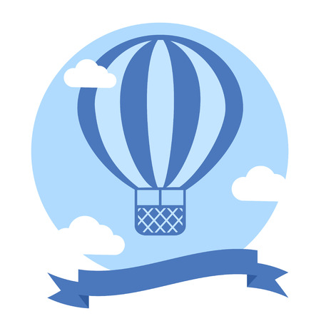 balloon vector: Vector Hot Air Balloon Background. Template for Greeting Card or Poster