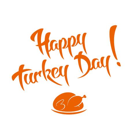 caes: Día feliz de Turquía - Diseño de la caligrafía