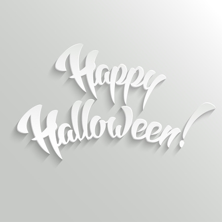 mystery: Happy Halloween 3d Vector Hand Lettering Design Element, easy paste to any background Illustration