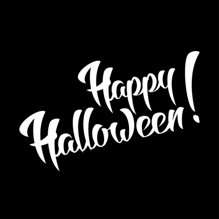 happy halloween: Happy Halloween Vector Hand Lettering Design Element