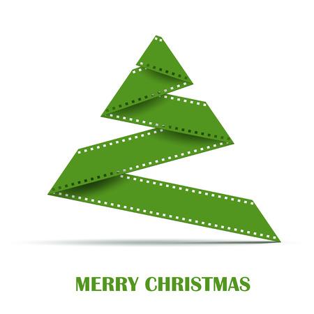 cinta pelicula: Resumen estiliza Árbol de navidad hecho de tira de la película