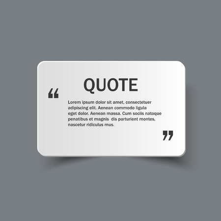 papier banner: Quote form on paper banner with shadow, design template Illustration