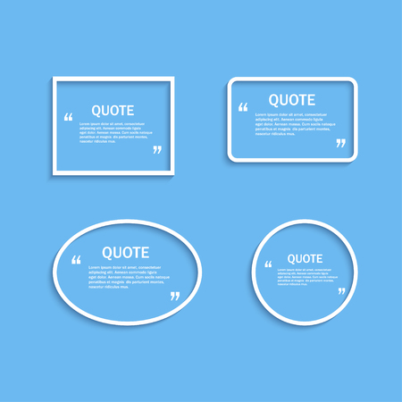 textbox: Quote outline frame, design template