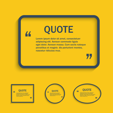 textbox: Quote line text box, vector design template