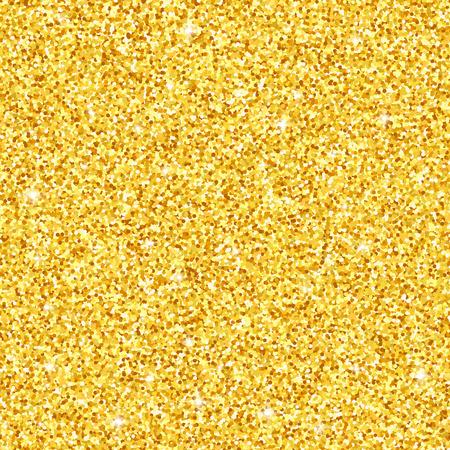 Gold glitter seamless pattern, vector textured background