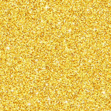Gold glitter seamless pattern, vector textured background