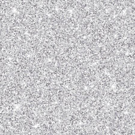 Silver glitter seamless pattern, vector textured background