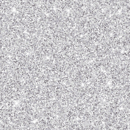 Silver glitter seamless pattern, vector textured background