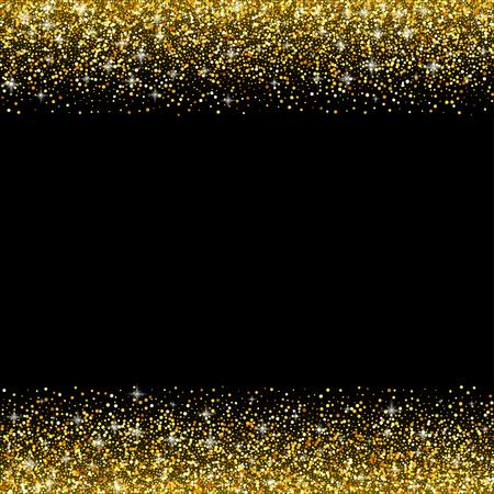goldmedaille: Vector schwarzen Hintergrund mit Goldglitter schein, Grußkartenschablone