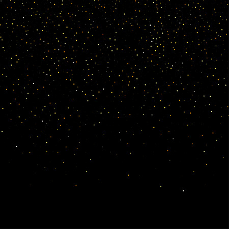 gold dust glitter star wave fireworks abstract black background, design template  イラスト・ベクター素材