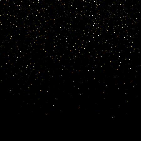 polvo: onda fuegos artificiales polvo brillo estrella de oro resumen fondo negro, plantilla de diseño