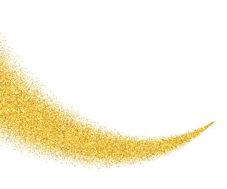 Vector gold glitter vague de fond abstrait, étincelles d'or sur fond blanc, modèle de conception vip