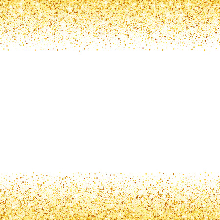 Vector gold glitter wave abstract background, golden sparkles on white background, vip design template Фото со стока - 50855345