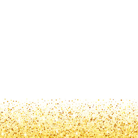 벡터 골드 반짝이 웨이브 추상적 인 배경, 흰색 배경에 황금 반짝, VIP 디자인 서식 파일 일러스트