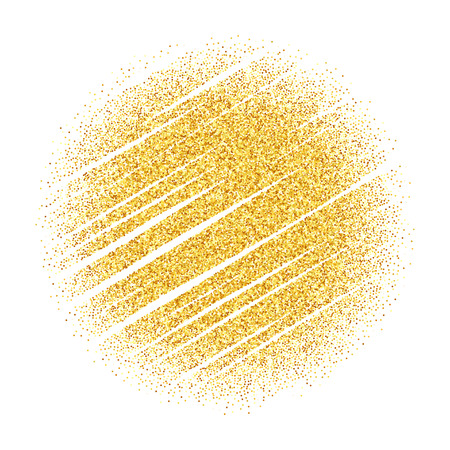 Vector gold glitter wave abstract background, golden sparkles on white background, vip design template Reklamní fotografie - 50855469