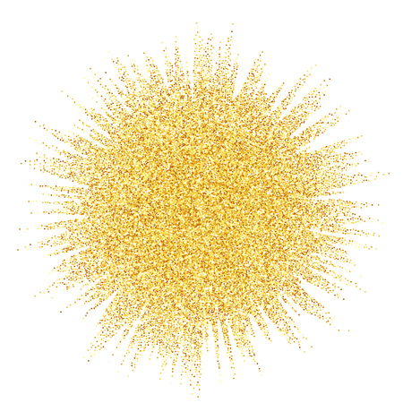 Vector gold glitter wave abstract background, golden sparkles on white background, vip design template