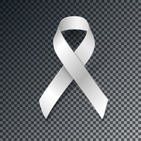 motherhood: White Ribbon Alliance for Safe Motherhood, with transparent shadow isolated on dark background, vector design element.