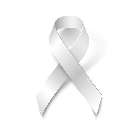 White Ribbon Alliance for Safe Motherhood, isolated on white background, vector design element.