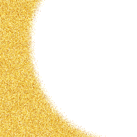 Vector abstract  old glitter dust background, golden sparkles isolated on white background, vip design template