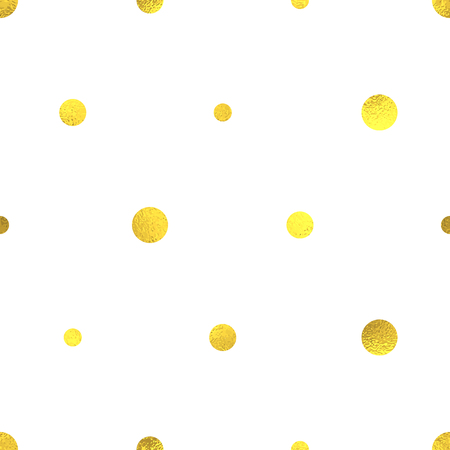 foil: Gold glittering foil seamless pattern background with circles Illustration