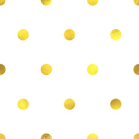 Gouden glinsterende folie naadloze patroon achtergrond met cirkels