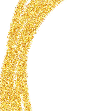 year curve: Vector gold glitter abstract background, golden sparkles on white background, design template Illustration