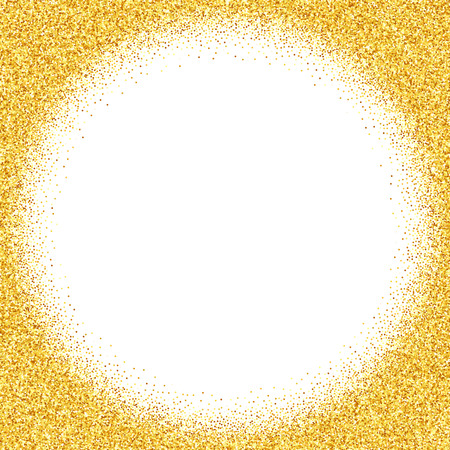 shimmering: Vector gold glitter abstract background, golden sparkles on white background, design template Illustration
