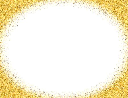 Vector gold glitter abstract background, golden sparkles on white background, design template Illustration