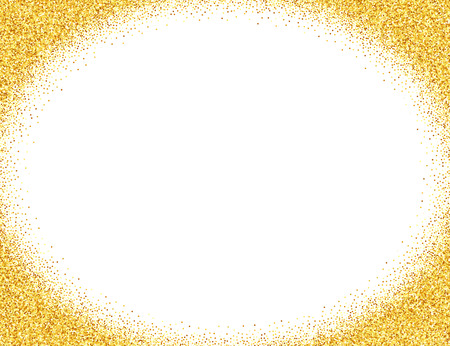 Vector gold glitter abstract background, golden sparkles on white background, design template Stock Illustratie
