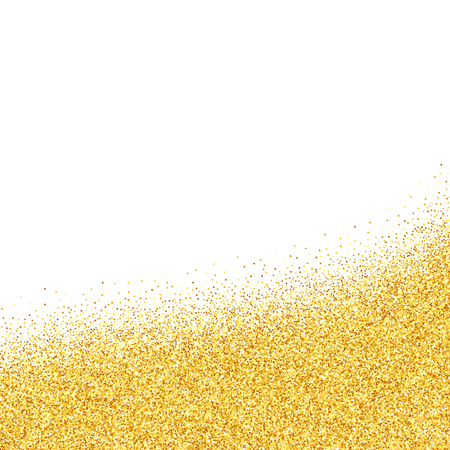 tail: Vector gold glitter abstract background, golden sparkles on white background, design template Illustration