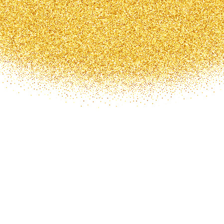 Vector gold glitter abstract background, golden sparkles on white background, design template Ilustração