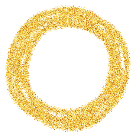 brilliant: Vector gold glitter abstract background, golden sparkles on white background, design template Illustration