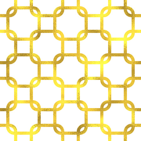 gold background: Gold glittering foil geometric seamless pattern background Illustration